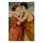 SIMEON SOLOMON | DAMON AND AGLAE