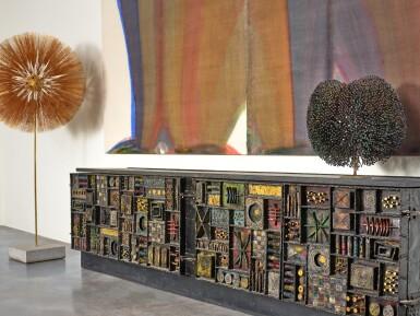 """View 3. Thumbnail of Lot 120. A Unique """"Sculpture Front"""" Cabinet."""