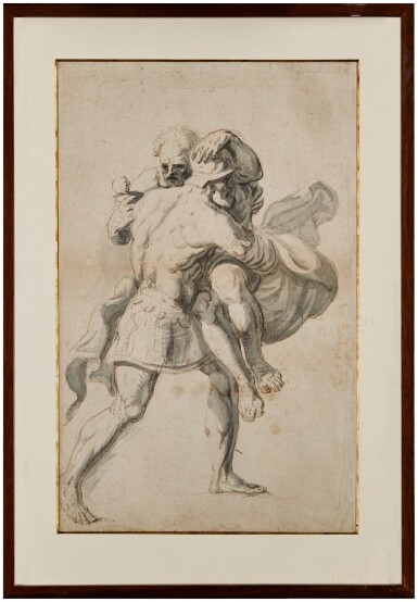 View 2. Thumbnail of Lot 147. English School, 18th Century   Aeneas saving Anchises from Troy.