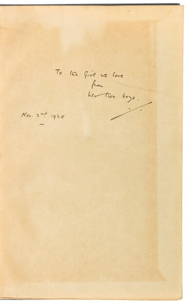 View 2. Thumbnail of Lot 157. MILNE, A.A. | When We were Very Young. London: Methuen, 1924.