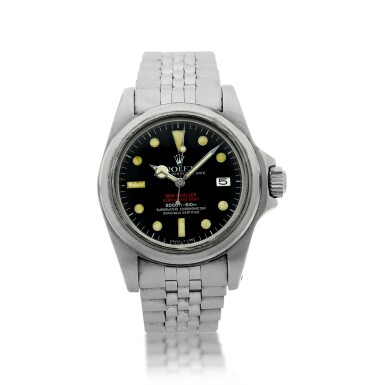 View 7. Thumbnail of Lot 125. REFERENCE 1665 'DOUBLE RED' SEA DWELLER A STAINLESS STEEL WRISTWATCH DATE AND BRACELET, CIRCA 1978.
