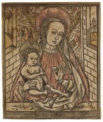 The Virgin and Child before an Embroidered Cloth of Honour (Not in Sch.)