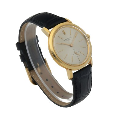 View 3. Thumbnail of Lot 86. Ref. 3440 Yellow gold wristwatch Made in 1961   百達翡麗 3440型號黃金腕錶,1961年製.