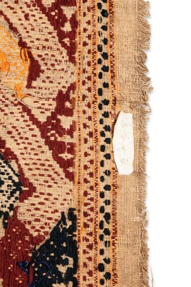 "View 4. Thumbnail of Lot 5. Tissu cérémoniel ""à jonques"" palepai, Lampung, Sumatra, Indonésie, circa.1900 | Ceremonial hanging ""ship cloth"" palepai, Lampung, Sumatra, Indonesia, ca. 1900."