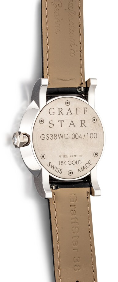 View 3. Thumbnail of Lot 1074. 'Graff Star Classic' Reference GS38WD, Limited Edition White Gold and Diamond-Set Wristwatch | 格拉夫| Graff Star Classic編號GS38WD,限量版白金鑽石腕表,約2010年製.