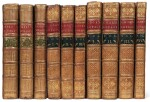 Cook. Complete set of the voyages. 1773-1785. 10 volumes. The Morritt copy.
