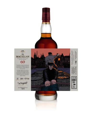 View 7. Thumbnail of Lot 1. The Macallan Red Collection with Exclusive Labels Illustrated by Javi Aznarez (6 bts 70cl).