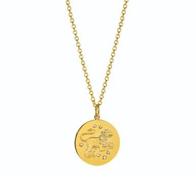 View 1. Thumbnail of Lot 11. Verdura | 18 Karat Gold and Diamond 'Zodiac' Pendant-Necklace.