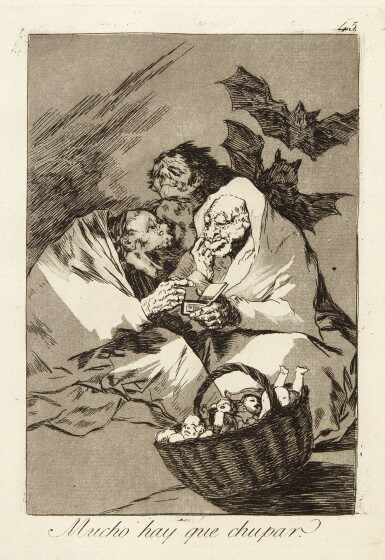 View 4. Thumbnail of Lot 38.  FRANCISCO JOSÉ DE GOYA Y LUCIENTES | LOS CAPRICHOS (DELTEIL 38-117; HARRIS 36-115).