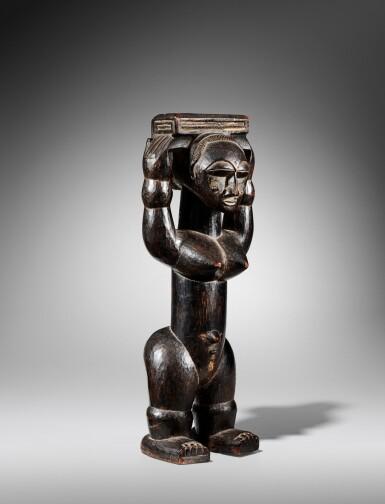 View 4. Thumbnail of Lot 100. Statue, Gwa / Attié, Côte d'Ivoire   Gwa / Attie figure, Côte d'Ivoire.