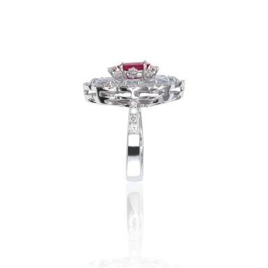 RUBY, WHITE SAPPHIRE AND DIAMOND RING, MICHELE DELLA VALLE