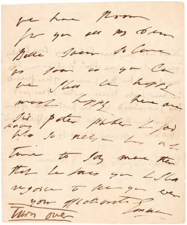 View 2. Thumbnail of Lot 89. Horatio, Viscount Nelson, and Emma Hamilton   two autograph letter signed, to Catherine and George Matcham, 1805.