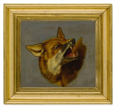 View 3. Thumbnail of Lot 126. A sketch of a head of a fox.