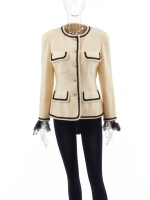 CHANEL | WOOL AND SILK JACKET AND BLOUSE