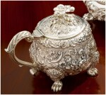 A GEORGE IV SILVER MUSTARD POT, PAUL STORR, LONDON, 1825