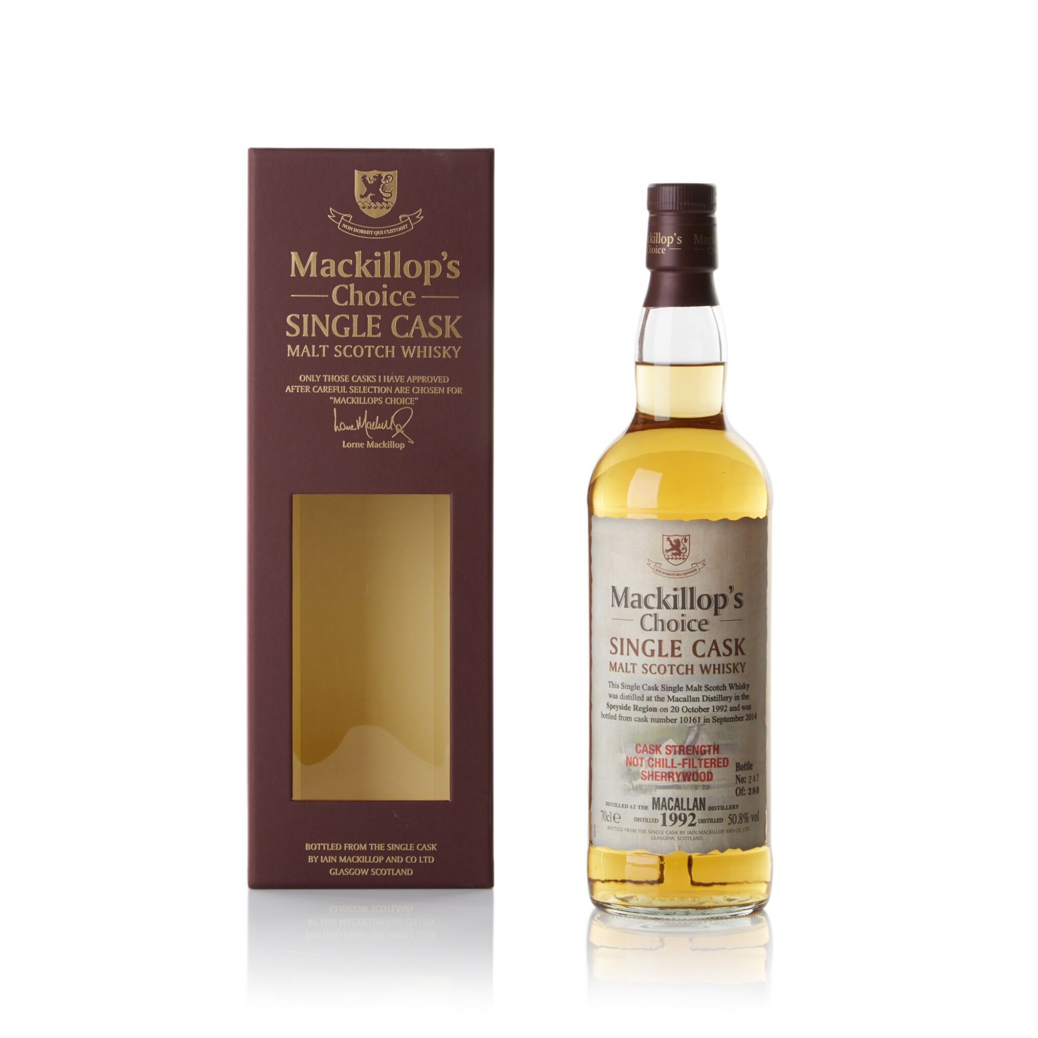 View full screen - View 1 of Lot 94. The Macallan Mackillop's Choice 50.8 abv 1992 .