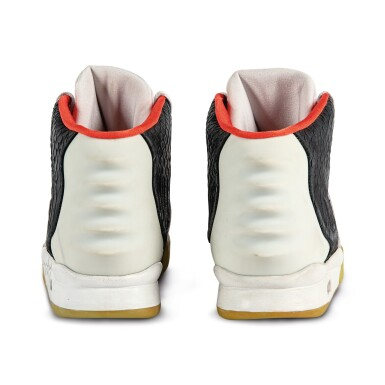 View 8. Thumbnail of Lot 38. Nike Air Yeezy 2 'Mismatch' Sample Signed by Kanye West | Size 12.
