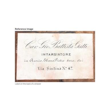 View 2. Thumbnail of Lot 38. AN ITALIAN GILT-BRONZE AND PIETRE DURE MOUNTED EBONY CABINET, BY GIOVANNI BATTISTA GATTI (1816-89), ROME THIRD QUARTER 19TH CENTURY.