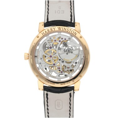 View 4. Thumbnail of Lot 91. HARRY WINSTON   REFERENCE 450-MAS42R MIDNIGHT SKELETON A PINK GOLD SKELETONIZED AUTOMATIC WRISTWATCH, CIRCA 2015.