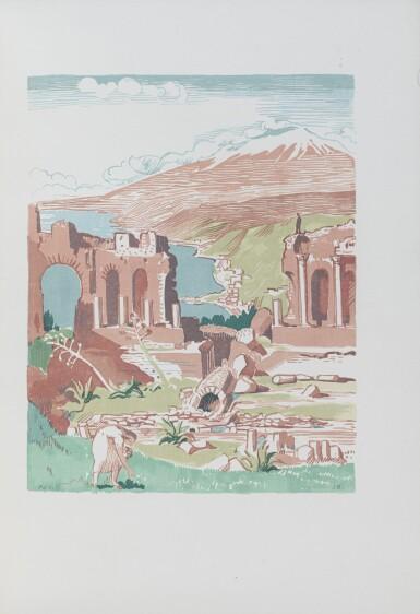 View 4. Thumbnail of Lot 129. Carnets de voyage en Italie, 1925. Avec deux aquarelles originales de Denis.