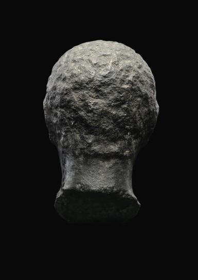 View 2. Thumbnail of Lot 55. AN EGYPTIAN BASALT HEAD OF A MAN, LATE PTOLEMAIC PERIOD, CIRCA 100-30 B.C..