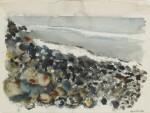 JOHN MARIN    BEACH, ROCKS AND SEA, MAINE