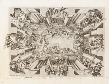 View 4. Thumbnail of Lot 55. Fürstlicher Baumeister... Augsbourg, 1711-1716. In-folio oblong. Edition originale.