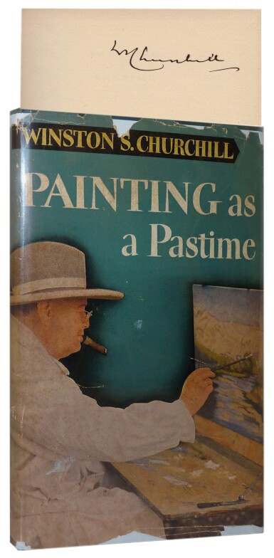 View 1. Thumbnail of Lot 73. Winston S. Churchill | Painting as a Pastime. London: Odhams Press, 1950.