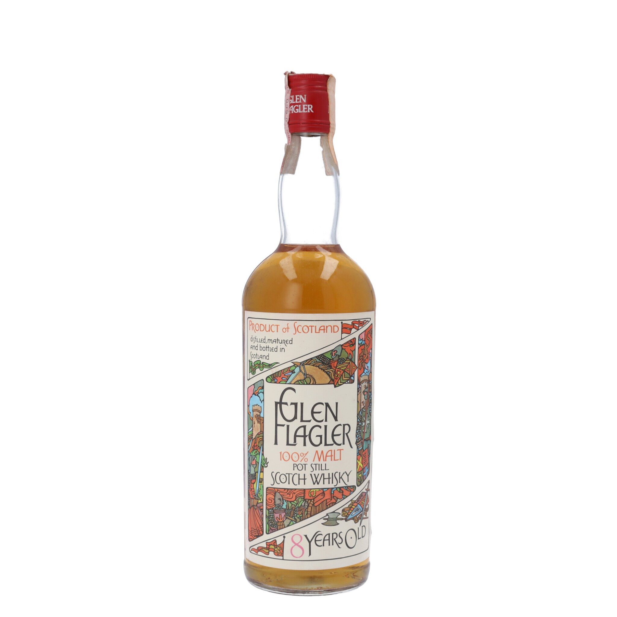 View full screen - View 1 of Lot 99. Glen Flagler 8 Year Old (1970s Gothic Label) 40.0 abv NV (1 BT75).