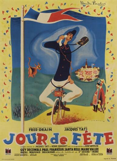 Jour de Fete (1948) poster, French