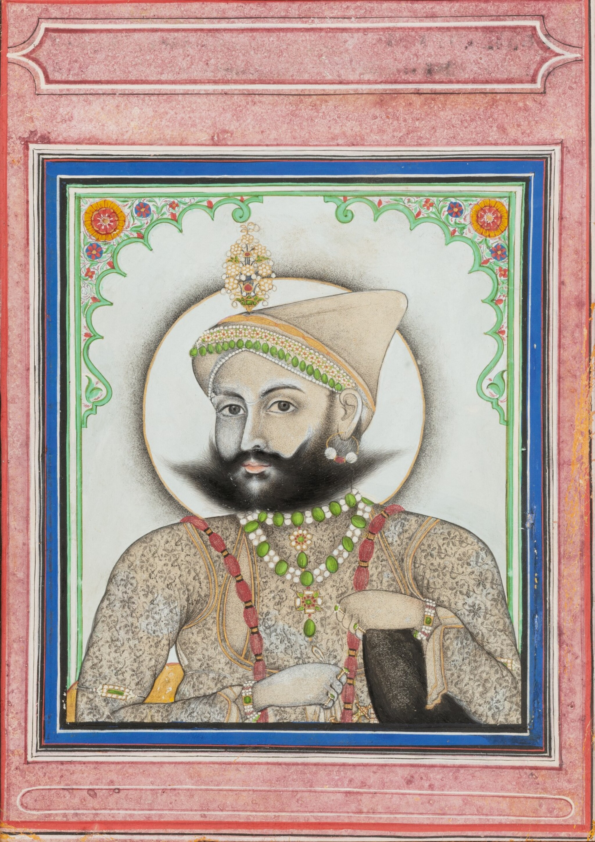 View full screen - View 1 of Lot 66. INDIA, RAJASTHAN AND PUNJAB, 19TH CENTURY | TWO PORTRAITS AND TWO GATHERINGS.