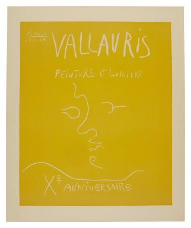 PABLO PICASSO | VALLAURIS. PEINTURE ET LUMIÈRE. XE ANNIVERSAIRE (B. 1850; BA. 1353)