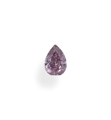A 0.52 Carat Fancy Intense Purple-Pink Pear-Shaped Diamond, I1 Clarity