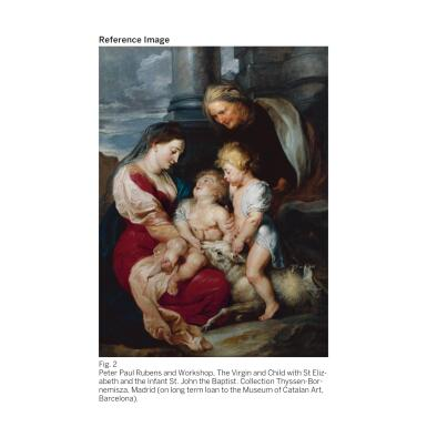 View 3. Thumbnail of Lot 19. SIR PETER PAUL RUBENS | THE VIRGIN AND CHRIST CHILD, WITH SAINTS ELIZABETH AND JOHN THE BAPTIST.