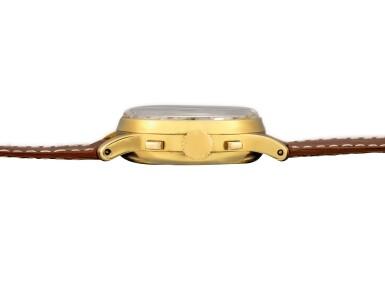 View 6. Thumbnail of Lot 2263. Patek Philippe | Reference 1518, A highly exceptional yellow gold perpetual calendar chronograph wristwatch with moon phases and original box, Circa 1951 | 百達翡麗 | 型號1518 非常精美黃金萬年曆計時腕錶,備月相顯示,附帶原裝盒子,約1951年製.