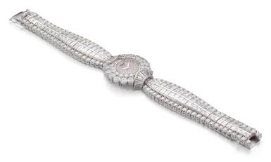 View 2. Thumbnail of Lot 1020. RARE AND POSSIBLY UNIQUE MANUALLY-WOUND DIAMOND WRISTWATCH, CHOPARD 罕有並可能獨一無二手動上鏈鑽石腕錶, 蕭邦 (Chopard) .
