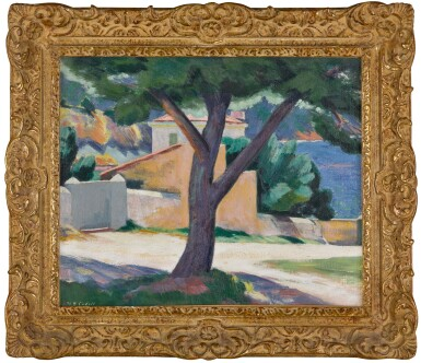 View 2. Thumbnail of Lot 1. Tree and Houses on the French Riviera.