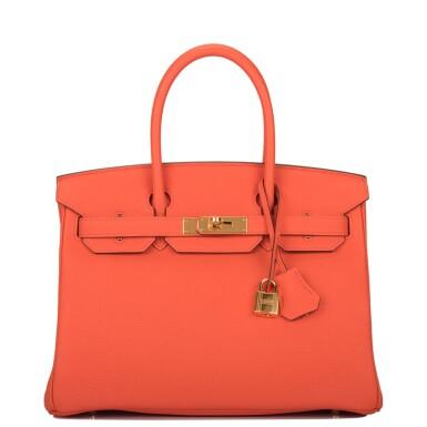 Hermès Orange Poppy Birkin 30cm of Togo Leather with Gold Hardware
