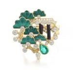 Gem set and diamond ring