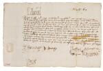 King Edward VI, letter signed, 30 June 1551