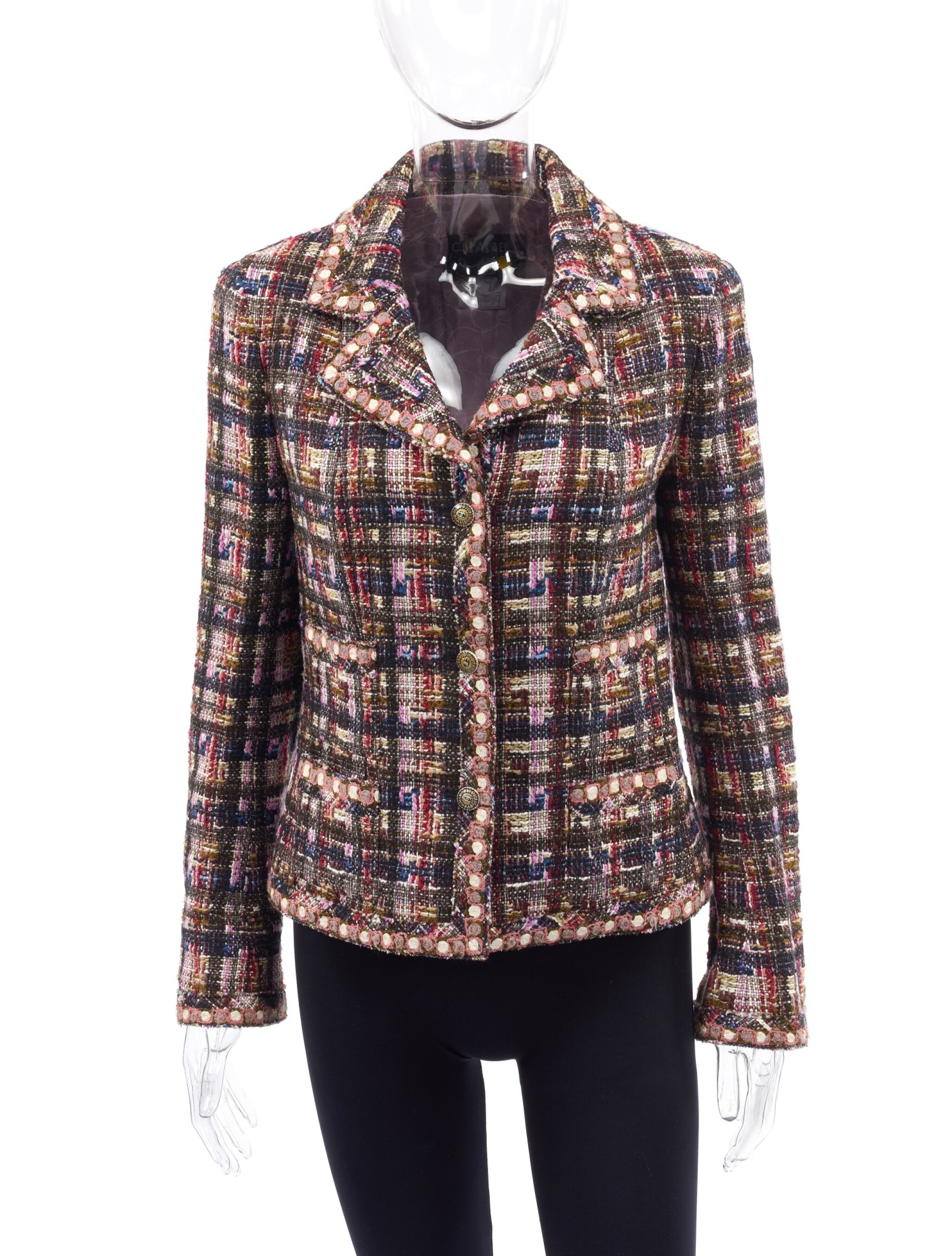 View 1 of Lot 10. MULTICOLOR WOOL-BLEND BLAZER , CHANEL.