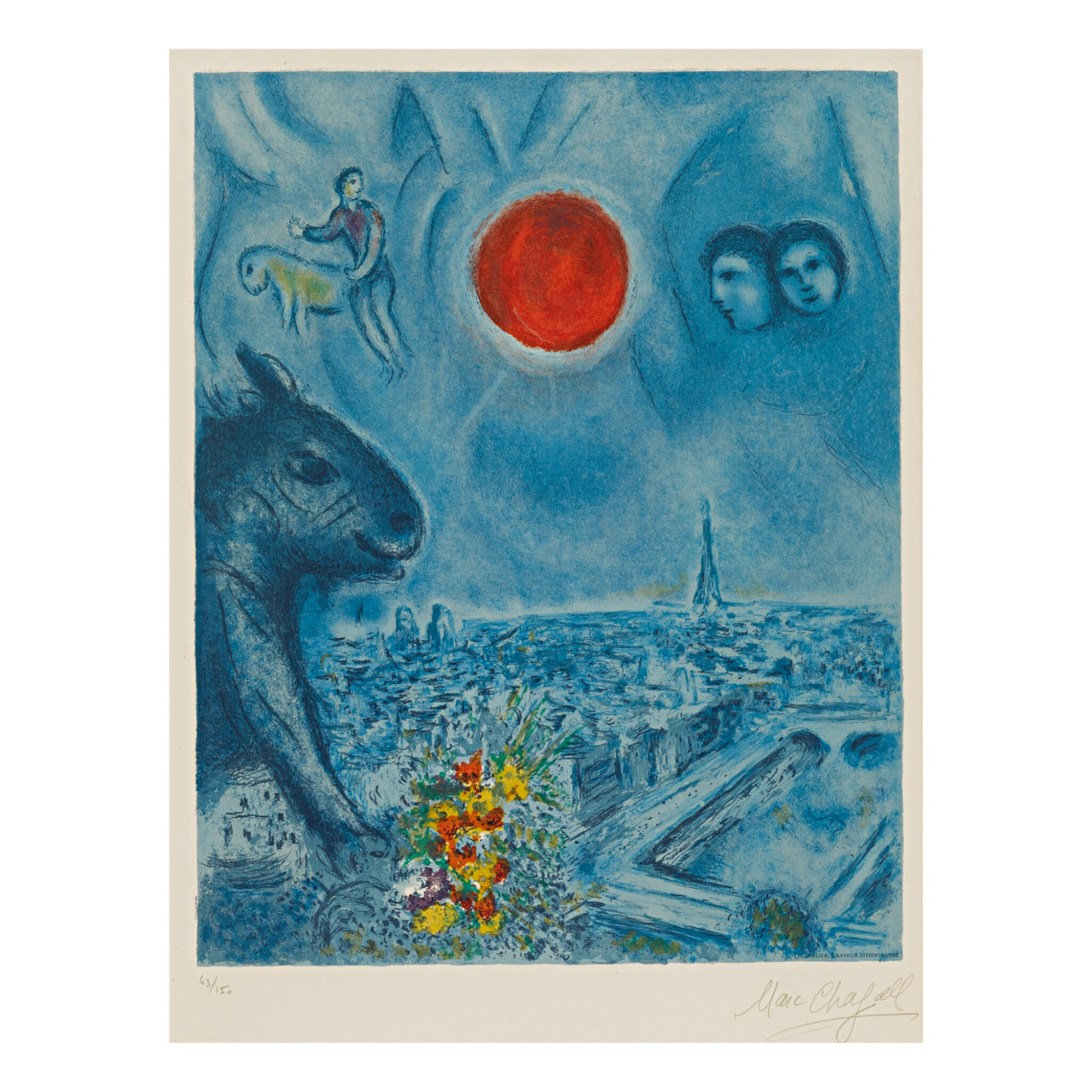 View full screen - View 1 of Lot 92. CHARLES SORLIER AFTER MARC CHAGALL | PARIS SUN (M. CS 48).