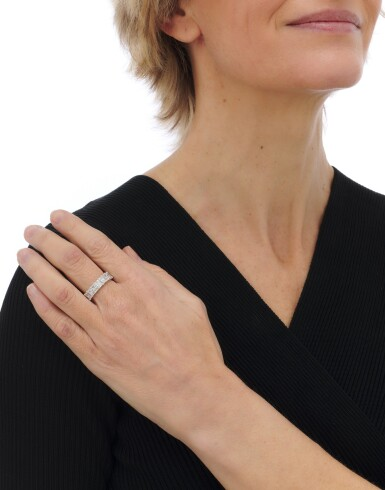 View 4. Thumbnail of Lot 146. Diamond eternity ring (Riviera in diamanti).