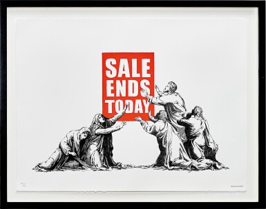View 2. Thumbnail of Lot 626. Banksy 班克斯 | Sale Ends (V.2) 銷售結束 (V.2).