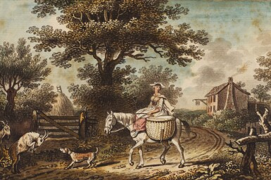 JOHN COLLET | A lady riding on a country lane
