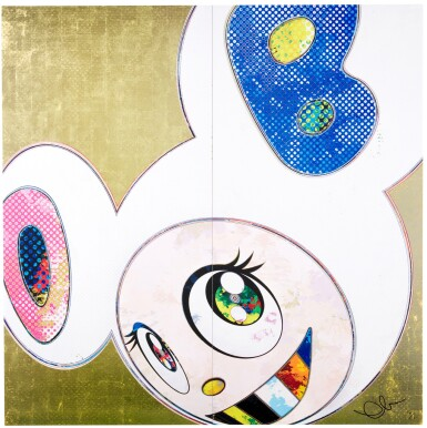 View 2. Thumbnail of Lot 65. TAKASHI MURAKAMI | DOB IN PURE WHITE ROBE (NAVY & VERMILION); AND DOB IN PURE WHITE ROBE (PINK & BLUE) .