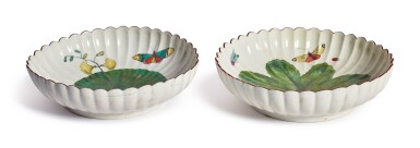 View 2. Thumbnail of Lot 161.  TWO CHELSEA 'HANS SLOANE' FLUTED DEEP DISHES, CIRCA 1758-60.