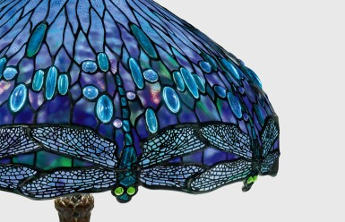 "View 3. Thumbnail of Lot 411.  TIFFANY STUDIOS   AN IMPORTANT ""DRAGONFLY"" TABLE LAMP."