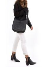 Black leather, canvas and palladium hardware, Evelyne PM 29, Hermès, 2011