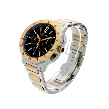 View 2. Thumbnail of Lot 7. REFERENCE BB 41 SPG CH A STAINLESS STEEL AND YELLOW GOLD AUTOMATIC CHRONOGRAPH WRISTWATCH WITH DATE AND BRACELET, CIRCA 2010.